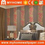 2017 Nouvelle salle de séjour en vinyle Rouleaux de papier peint gaufré classique