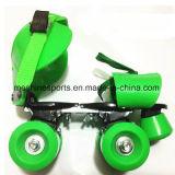 調節可能な4つの車輪のローラースケートの靴