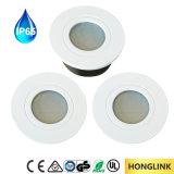 Il Ce RoHS IP65 impermeabilizza l'indicatore luminoso del LED giù, indicatore luminoso messo della stanza da bagno del soffitto