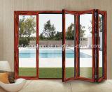 Дверь термально пролома алюминиевая двойная стеклянная Bifold/складывать/дверь Bifolding