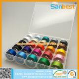 cuerda de rosca de la bobina de Prewound del poliester 70d/2 en 25 colores