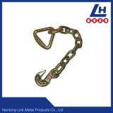 Galvanizado G70 de oro de la cadena de enlace con el gancho