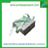 Rectángulo de empaquetado modificado para requisitos particulares del regalo de la joyería del reloj del collar de la pulsera del anillo de los pendientes del diamante del embalaje de la cinta