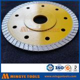 Las herramientas del diamante de corte rápido Caliente-Presionaron el corte dividido en segmentos gota sinterizado de Turbo vieron la lámina