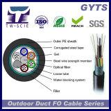 Câble fibre optique extérieur blindé GYTS de 6 faisceaux