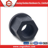 Noix noires DIN6331 de collier d'hexagone