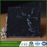 Один Countertop кварца раковины мраморный имитационный черный