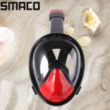 Masque antibrouillard de respiration plus facile panoramique de prise d'air de natation de plongée à l'air de silicones de pleine face de Smaco 180