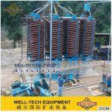 Separador de espiral para equipamentos de mineração de gravidade