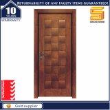 Porte en panneaux MDF en placage en bois d'acajou