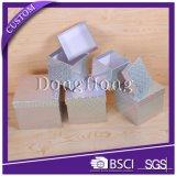 Rectángulos de empaquetado de papel reciclados insignia de la pajarita de la impresión