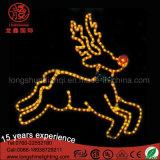 Luz ao ar livre da decoração do Natal do motivo da rena do diodo emissor de luz 2D para a rua