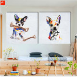 Cute Puppy with Sunglass Wall Picture Peinture à l'huile