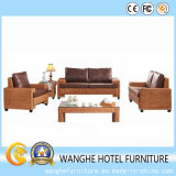 Insieme stabilito del sofà della mobilia del rattan della mobilia dell'albergo di lusso