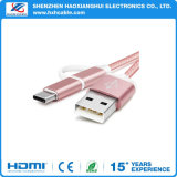 iPhone 5/6/Samsung/Type-C를 위한 1개의 다중 기능 나일론 USB 비용을 부과 케이블에 대하여 3