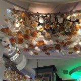 끊긴 색깔 펀던트 램프를 거는 호텔 장식적인 유리