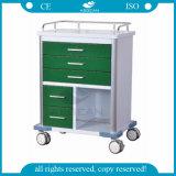 AG-GS006 Ce e ISO hospital verde oscuro mesa de equipamiento de emergencia