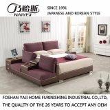 Rote Farben-Gewebe-Bett für Schlafzimmer-Gebrauch (FB8045)