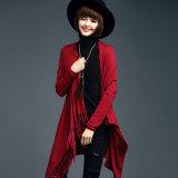 Fashion Viscose Nylon Knitted女性フリンジのカーディガンのセーター(YKY2069)