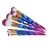 цветастый комплект щетки состава радуги ручки диаманта 7PCS