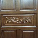 Sola puerta de madera principal con la talla moderna (GSP2-013)