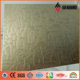 Novos Produtos da série de toque em relevo metálico do painel composto de alumínio