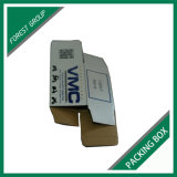 Scatola di cartone ondulata cubica bianca con stampa su ordinazione