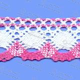 Guarnição colorida do laço do algodão para acessórios do vestuário
