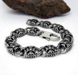 Silver Color Men Link Bracelets Acessório de moda Jóias de aço inoxidável