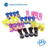 Dog Candy Colors Boots Chaussures imperméables en caoutchouc Pet Rain Shoes Booties