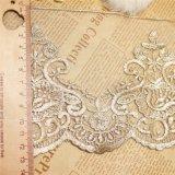 Merletto netto di nylon della maglia di immaginazione della guarnizione del ricamo del poliestere del merletto del commercio all'ingrosso 13cm della fabbrica del ricamo di riserva di larghezza per l'accessorio degli indumenti & tessile & tende domestiche