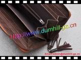 Портмоне Brown кожаный с застежкой -молнией