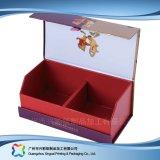 Rectángulo de regalo de empaquetado de madera de encargo del papel de la cartulina de la joyería/del reloj/del anillo (XC-1-015)