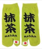 japanische Art klare Tabi Socke der Socken-2-Toe