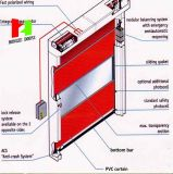 PVC 문 (Hz HS006)가 산업 냉장고 고속 문 자동 급속한에 의하여 위로 구른다
