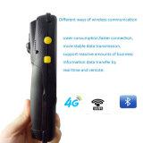 explorador sin hilos Handheld del código de barras 1d 2.o del androide PDA 4 de la pulgada industrial 4G