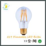 Iluminación mencionada A19/A60 de RoHS del certificado del Ce de la UL de los bulbos de Edison