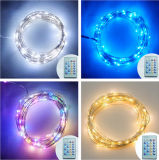 Indicatori luminosi della stringa del collegare di rame di CC della decorazione LED dell'indicatore luminoso leggiadramente con telecomando