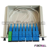 Tipo de módulo Fiber Optical PLC Splitter Lgx Box Sc Adapter