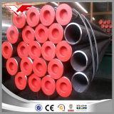 Tubo inconsútil del acero de carbón/tela tubular inconsútil según A106 el grado B