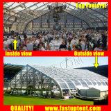 1200人のSeaterのゲストを開く不動産のためのアルミニウムPVCカーブの玄関ひさしのテント