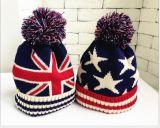Kind-Winter-warme Wolle-Hut-Jungen-Mädchen-Wolle-Hut-Baby-Winter-Kugel-Schutzkappe
