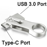 Unidade Flash USB OTG 16GB Memory Stick do gancho de metal