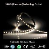 luz de tira flexível do diodo emissor de luz 72LEDs de 2400K-6000K Samsung Cc24V 5630 para restaurantes