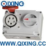 Qixing Ecl/IEC tomada à prova de água com o interruptor e intertravamento (QX7276)