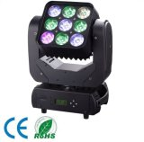 9PCS *10W RGBW 4in1 bewegliches Hauptlicht der Matrix-Wäsche-LED