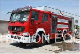 De Chinees Vrachtwagen van de Brandbestrijding van de Tank van het Water 6000L van de Vrachtwagen HOWO