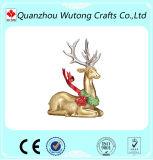 Decoración del hogar del día de fiesta de las estatuas de los ciervos del ornamento de la Navidad de la resina