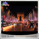Zeichenkette-Lichter der Weihnachtsfeiertags-im Freien Baum-Dekoration-LED