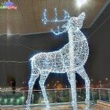 Reno ligero de acrílico al aire libre de la decoración LED de la Navidad del día de fiesta